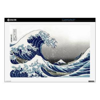 PixDezines Vintage, Great Wave, Hokusai 葛飾北斎の神奈川沖浪 Skins For Laptops