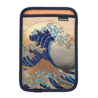 PixDezines Vintage, Great Wave, Hokusai 葛飾北斎の神奈川沖浪 Sleeve For iPad Mini