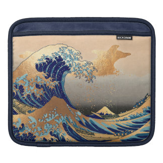 PixDezines Vintage, Great Wave, Hokusai 葛飾北斎の神奈川沖浪 Sleeve For iPads