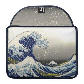 PixDezines Vintage, Great Wave, Hokusai 葛飾北斎の神奈川沖浪 Sleeve For MacBook Pro