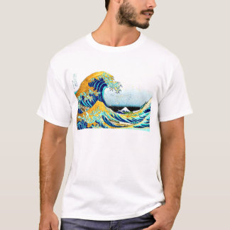 PixDezines Vintage, Great Wave, Hokusai 葛飾北斎の神奈川沖浪 T-Shirt