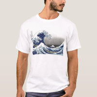 PixDezines Vintage, Great Wave, Hokusai 葛飾北斎の神奈川沖浪 T-Shirt