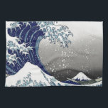 "PixDezines Vintage, Great Wave, Hokusai 葛飾北斎の神奈川沖浪 Towel<br><div class=""desc"">PixDezinves Vintage of Japanese art. The Great Wave of Kanagawa is one of the most seen worldwide. The artist,  Hokusai,  1832 (Edo Period). Depicting okinami as the great waves,  NOT tsunami.  Digitally enhanced by PixDezines.  Copyright &#169; 2008-2014 PixDezines.com™ and PixDezines™ on zazzle.com</div>"