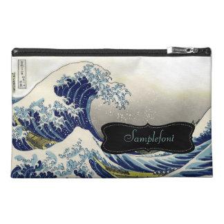PixDezines Vintage, Great Wave, Hokusai 葛飾北斎の神奈川沖浪 Travel Accessories Bags