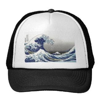PixDezines Vintage, Great Wave, Hokusai 葛飾北斎の神奈川沖浪 Trucker Hat