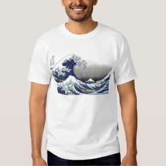 PixDezines Vintage, Great Wave, Hokusai 葛飾北斎の神奈川沖浪 Tshirts