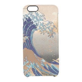 PixDezines Vintage, Great Wave, Hokusai 葛飾北斎の神奈川沖浪 Uncommon Clearly™ Deflector iPhone 6 Case