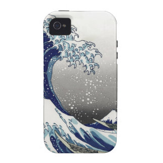 PixDezines Vintage, Great Wave, Hokusai 葛飾北斎の神奈川沖浪 Vibe iPhone 4 Covers