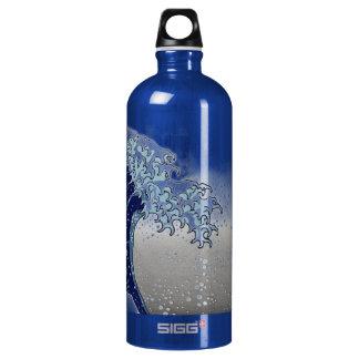 PixDezines Vintage, Great Wave, Hokusai 葛飾北斎の神奈川沖浪 Water Bottle