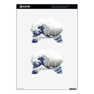 PixDezines Vintage, Great Wave, Hokusai 葛飾北斎の神奈川沖浪 Xbox 360 Controller Skin