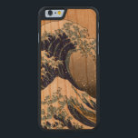 "PixDezines Vintage Great Waves Carved Cherry iPhone 6 Slim Case<br><div class=""desc"">com™ and PixDezines™ on zazzle.com.  All rights reserved. iPhone 6 case</div>"