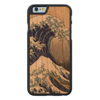 PixDezines Vintage Great Waves Carved Cherry iPhone 6 Slim Case