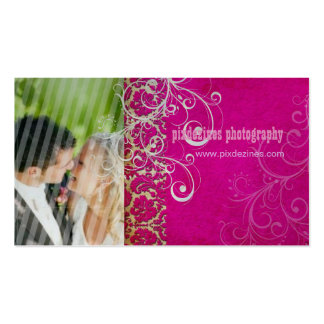PixDezines Vintage Grunge Damask / Hot Pink Business Card Templates