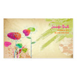 PixDezines Vintage Grunge Floral ♥♥♥♥ Double-Sided Standard Business Cards (Pack Of 100)