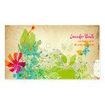 PixDezines Vintage Grunge Floral ♥♥♥♥ Business Cards