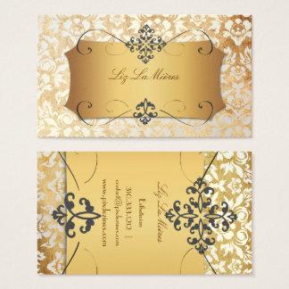 PixDezines VINTAGE HAUTE COUTOUR DAMASK Business Card