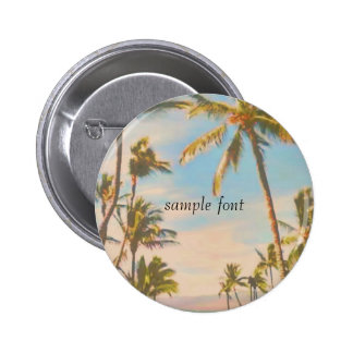 PixDezines vintage hawaiian beach 2 Inch Round Button