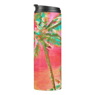 PixDezines Vintage Hawaiian Beach/Coral/Teal Thermal Tumbler