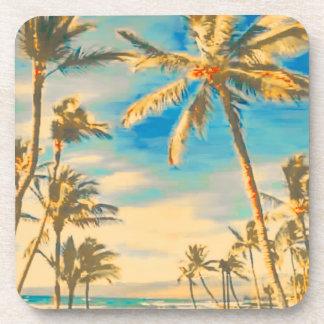 PixDezines vintage hawaiian beach Beverage Coasters