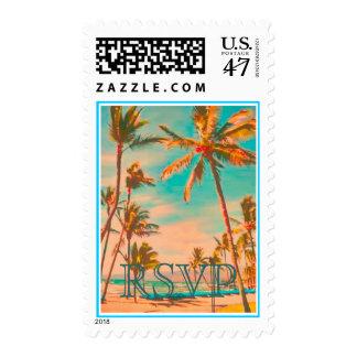 PixDezines VINTAGE HAWAIIAN BEACH/DIY text Stamp
