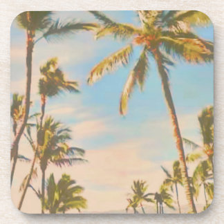PixDezines vintage hawaiian beach Drink Coaster