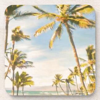 PixDezines vintage hawaiian beach Drink Coasters