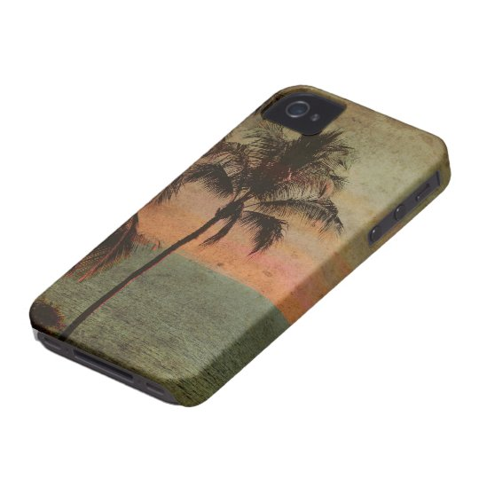 PixDezines Vintage Hawaiian Beach, hapuna iPhone 4 Case