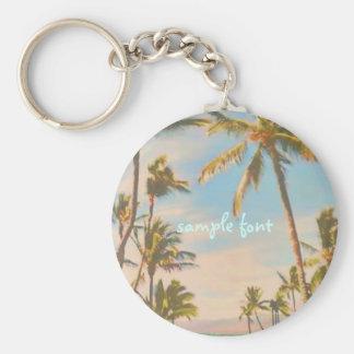 PixDezines vintage hawaiian beach Keychain