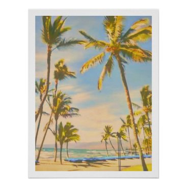 Beach Themed PixDezines vintage hawaiian beach Poster