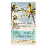 PixDezines vintage hawaiian beach scene Business Card Templates