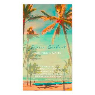 PixDezines Vintage Hawaiian Beach Scene Business Card