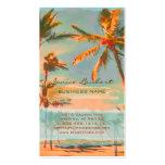 PixDezines Vintage Hawaiian Beach Scene Business Card Template