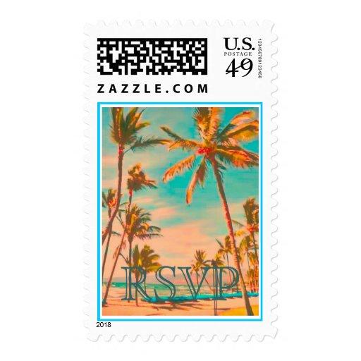 PixDezines Vintage Hawaiian Beach Scene/DIY text Stamps