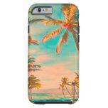 PixDezines Vintage Hawaiian Beach Scene/teal iPhone 6 Case