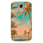 PixDezines Vintage Hawaiian Beach/teal Samsung Galaxy S4 Cover