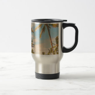 PixDezines vintage hawaiian beach Travel Mug