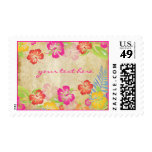 PixDezines Vintage Hawaiian Hibiscus Leis/DIY Postage Stamps