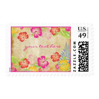 PixDezines Vintage Hawaiian Hibiscus Leis/DIY Stamp