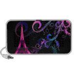 PixDezines Vintage La Tour Eiffel + swirls Portable Speakers