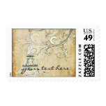 PixDezines vintage, La Tour Eiffel + Swirls Stamp