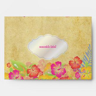 PixDezines Vintage Leis/Hibiscus Envelope