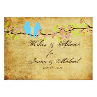 PixDezines Vintage Love Birds, Advice Cards Business Card Template