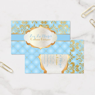 PixDezines vintage lys damask Business Card