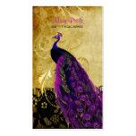 PixDezines vintage magenta peacock+lace/diy fonts Business Card