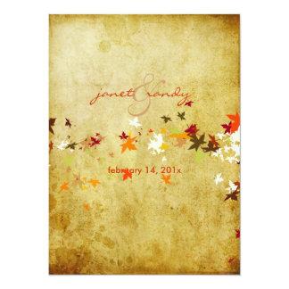 PixDezines Vintage Maple Leaves/fall wedding Announcement