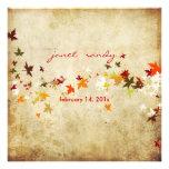 PixDezines Vintage Maple Leaves/fall wedding Invites