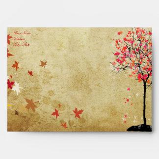 PixDezines vintage maple tree/pink+orange Envelope