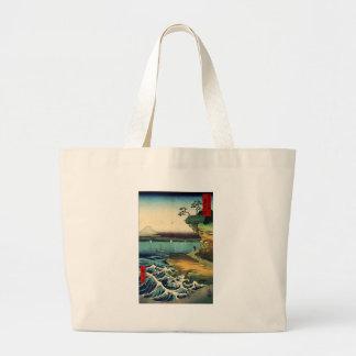 PixDezines Vintage, Mt. Fuji 房州保田ノ海岸 Large Tote Bag