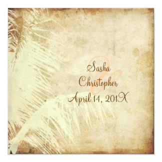 PixDezines vintage palm/faux parchment Card