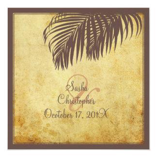 PixDezines vintage palm fronds/faux parchment Card